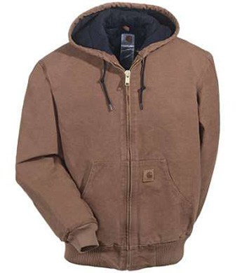 fb8e05eb7 Carhartt Men's Sandstone Duck Insulated Jacket With Hood